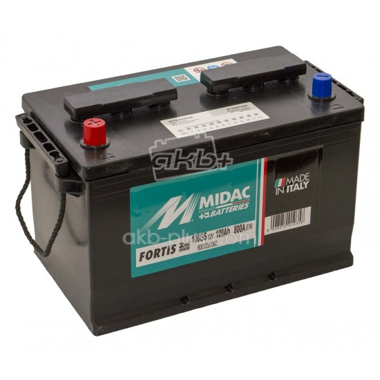 Аккумулятор 6СТ-100A MIDAC FORTIS Asia, 12V, 100Ah, L