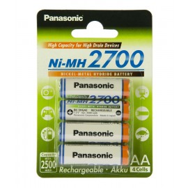 Акумулятор Panasonic High Capacity AA 2700 mAh 4BP NI-MH