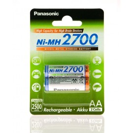 Аккумулятор Panasonic High Capacity  AA 2700 mAh 2BP   Ni-MH