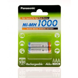 Аккумулятор Panasonic High Capacity  AAA 1000 mAh 2BP  NI-MH
