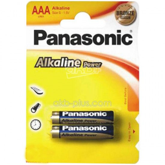 Батарейка Panasonic ALKALINE POWER AAA BLI 2 - купить