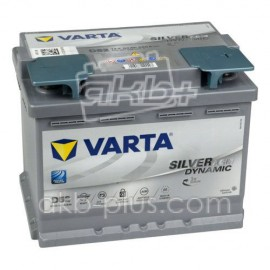 Аккумулятор 6СТ-60A VARTA Silver Dynamic Start-Stop Plus AGM D52 (560901068),12V,60Ah (-/+) Варта, 12В, 60Ач, EN680А