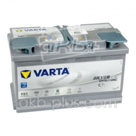 Аккумулятор 6СТ-80A VARTA Silver Dynamic Start-Stop Plus AGM F21 (580901080),12V,80Ah (-/+) Варта, 12В, 80Ач, EN800А