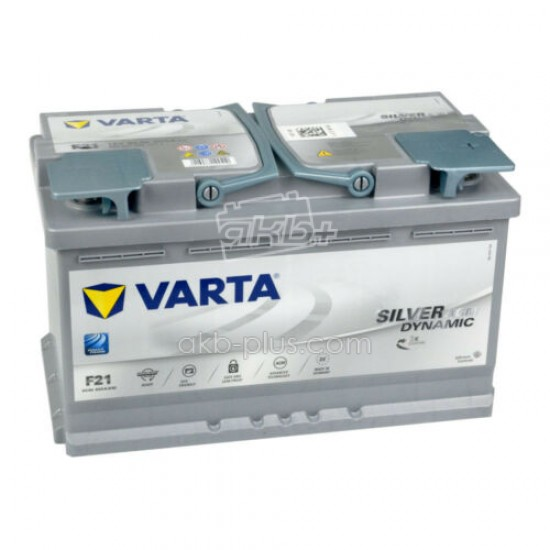 Аккумулятор 6СТ-80A VARTA Silver Dynamic Start-Stop Plus AGM F21 (580901080),12V,80Ah (-/+) Варта, 12В, 80Ач, EN800А - купить