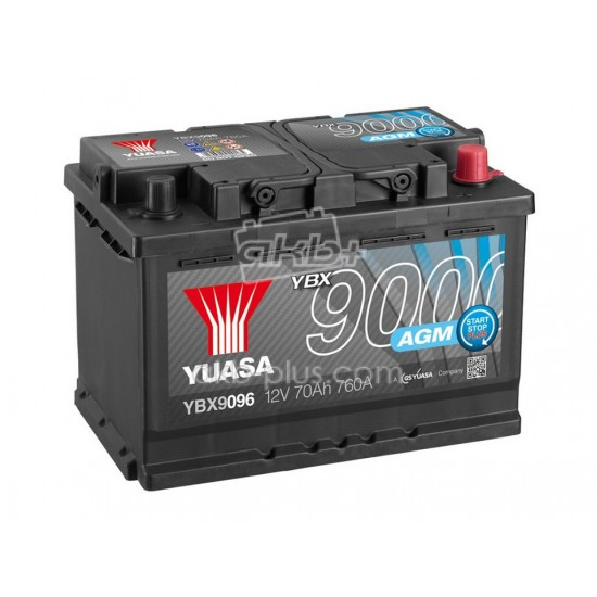 Аккумулятор Yuasa AGM Start Stop Plus Battery 70Ah - купить