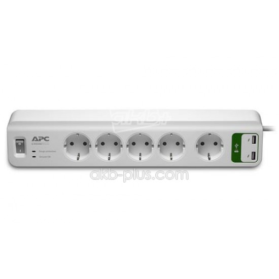 Фильтр APC Essential SurgeArrest 5 outlets + 2 USB (5V, 2.4A) - купить
