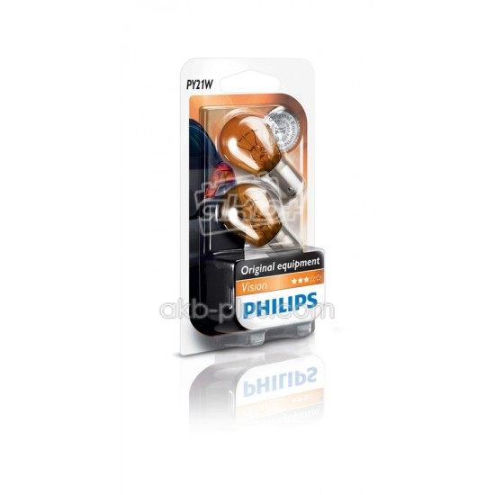 Лампа накаливания Philips PY21W, 2шт/блистер - купить