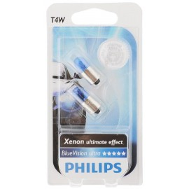 Лампа накаливания Philips T4W BlueVision, 2шт/блистер