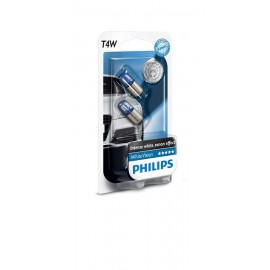 Лампа накаливания Philips T4W WhiteVision, 2шт/блистер